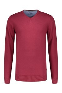 Kitaro Sweater - V-neck Red