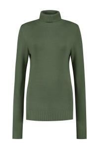 Casa Mia - Basic Turtleneck Sweater Moss Green