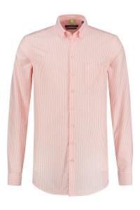 Ledûb Modern Fit Shirt - Orange Stripe