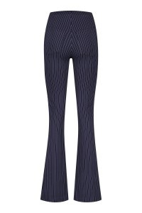 Madame Liz - Leggings Flared Pinstripe Navy