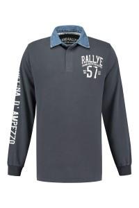 Kitaro Long Sleeve Polo-shirt - Dusty Navy
