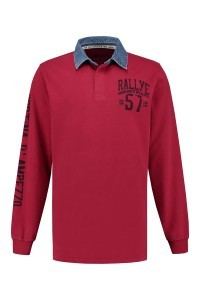 Kitaro Long Sleeve Polo-shirt - Garnet Red