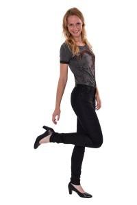 Cross Jeans Alan - Black Coated Stretch