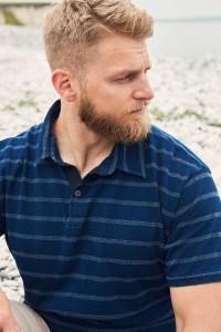 North 56˚4 Polo Shirt - Navy Striped