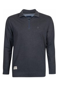 North 56˚4 Half Zip Sweater - Dark grey