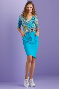 Only M - Wrap top Paisley
