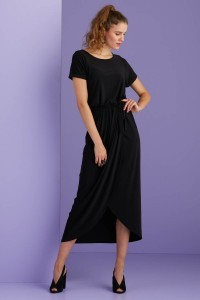 Only M Dress - Wrap dress black
