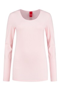 Only M - Basic O-neck top pink
