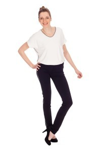 Only M Trousers - Celine with piping black
