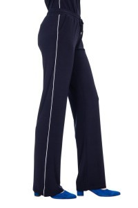 Only M Trousers - Snooze Wide Navy Piping