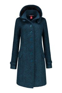 Only M - Wool Wintercoat Petrol