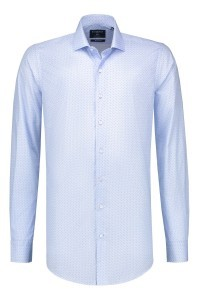 Corrino shirt - light blue pattern