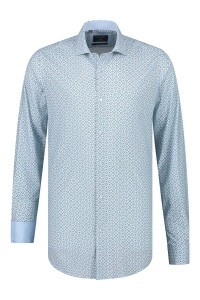 Corrino Shirt - Pattern Light Blue