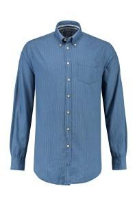 Kitaro shirt - light indigo, extra long sleeves