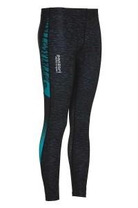 Panzeri Ladies' Running Tights - Turbo black/turquoise