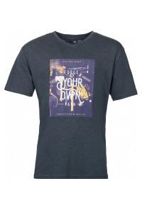 Replika Jeans v-neck T-Shirt - Forge Dark Grey