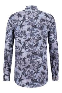 R2 Shirt - Blue Floral Print