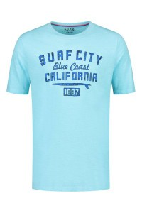 SOHO T-Shirt - Surf City Aqua