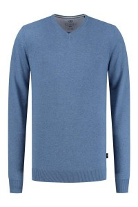 Kitaro Sweater - Basic V-Neck Sky Blue