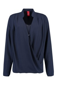 Only M - Draping Blouse Navy