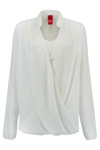 Only M - Draping Blouse Off White
