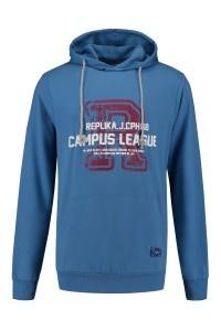 Replika Jeans Hooded Sweater - Blue