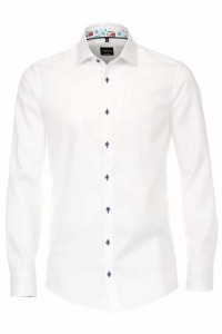 Venti Modern Fit Shirt - Structure White