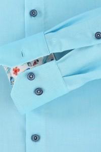Venti Modern Fit Shirt - Structure Aqua