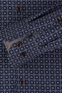 Venti Modern Fit Shirt - Navy/pattern