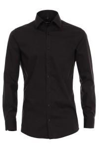 Venti Body Fit Shirt - Black