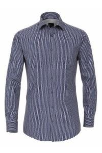 Venti Slim Fit Shirt - Navy Print