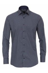 Venti Modern Fit Shirt - Dark blue dots