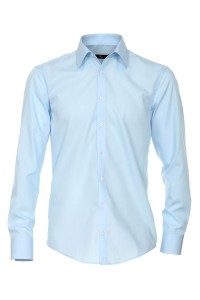Venti slim fit shirt light blue