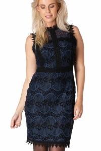 Yest Dress - Peacock Blue/black
