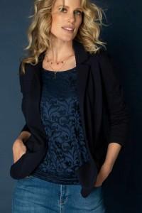 Yest Top - Yolanda Blue Black