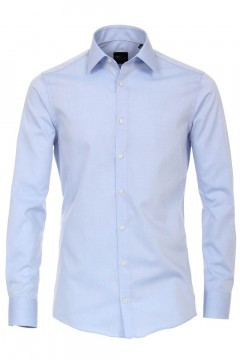 Venti modern fit shirt light blue