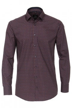 Venti Modern Fit Shirt - Red/multi