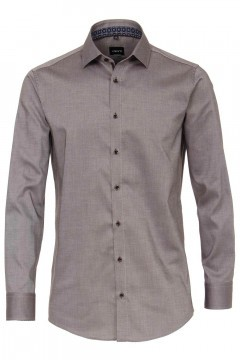 Venti Modern Fit Shirt - Kent Brown