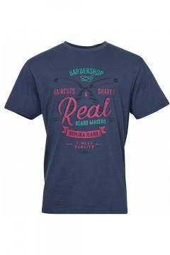 Replika Jeans T-Shirt - Barbershop Navy