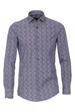 Venti Modern Fit Shirt - Blue Paisley