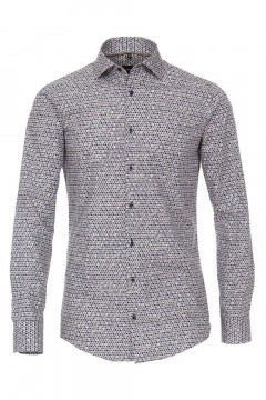Venti Modern Fit Shirt - Dots Dark