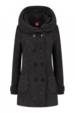 Only M - Wool Wintercoat Short Anthracite
