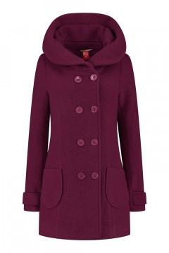 Only M - Wool Wintercoat Short Dark Pink