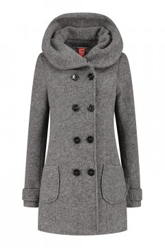 Only M - Wool Wintercoat Short Light Grey
