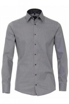 Venti Modern Fit Shirt - Light Grey Pattern