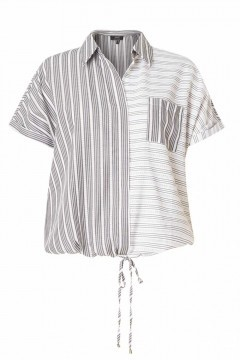 Yest Top - Striped Black/White