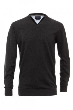Casa Moda V-Neck Pullover - Dark Grey