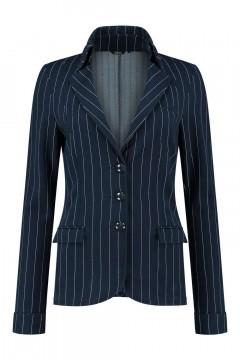 Chiarico - Short Blazer Punto Navy Pintstripe