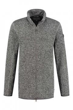 Blue Wave Fleece Jacket - Grey Melange