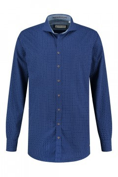 Blue Crane tailored fit shirt - Navy/patterned